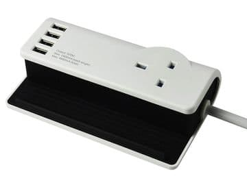 Desktop Charging Station 240V 4 x USB 13A 1.4m
